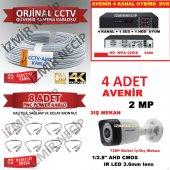 Orjinal Avenir 4 Lü Set Dvr Kablo Kamera Bnc Tak Çalıştır Hazır
