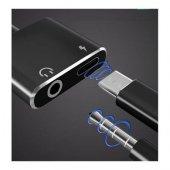 Samsung Galaxy Note 9 Type C Kulaklık Şarj Kiti Aynı Anda 3,5mm