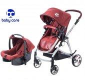 Baby Care Prestij Aliminyum Travel Bebek Arabası Bc 655 Bordo