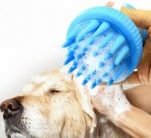 şampuan Hazneli Yumuşak Silikon Kedi Köpek Yıkama Fırçası