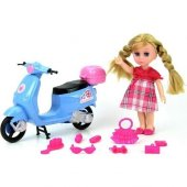 63011 Kutulu My Little Girls Scooterlu Bebek