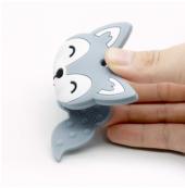 Bebek Pembe Tilki Diş Çıkarma Kaşıyıcı Silikon Oyu...
