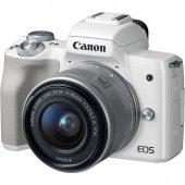 Canon Eos M50 + 15 45mm Lens Aynasız Fotoğraf Makinası