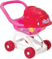 Candy Tenteli Puset Bebek Arabası Oyuncak Puset Oyuncak Bebek Arabası Evcilik Oyuncakları