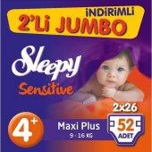 Sleepy 2li Jumbo No 4+ 9 16kg 52li Sensitive Bebek Bezi