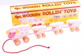 4pcs Wooden Rolling Toys