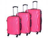 4 Tekerlekli Valiz Seti Pembe Renk Bavul Gnza Nuovo