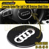 Audi A3 A4l Q2 S3 Karbon Direksiyon Göbeği Sticker 7.6cm Crm7065