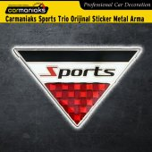 Carmaniaks Sports Trio Orijinal Sticker Metal Arma