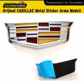 Orijinal Cadıllac Metal Sticker Arma Modeli