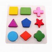 Eğitici Ve Eğlenceli Ahşap Eşleştirmeli Puzzle 10+ay