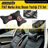 Fiat Marka Deri Boyun Yastığı 2li Set Carmaniaks Crm8011