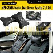 Carmaniaks Mercedes Marka Deri Boyun Yastığı 2li Set