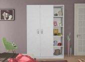 Gardırop Aşka 120 Cm 2 Kapı Raflı Beyaz