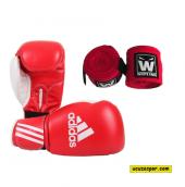 Adidas Response Kırmızı Boks Eldiveni Boks Bandajı Seti