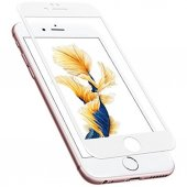 Iphone 6s 6 Ekran Koruyucu Tam Kaplama Temperli Cam Beyaz