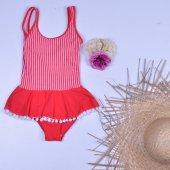 Endeep Kız Çocuk Elbise Mayo Mayokini Bikini 218397