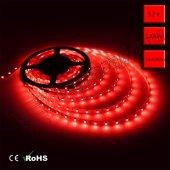 üç Çipli Dış Mekan Silikonlu Kırmızı Şerit Led (5050) 5 Metre