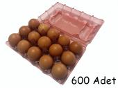 15 Li Plastik Pembe Yumurta Viyolü (600 Adet)