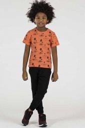 Tommy Life Palmiye Ağaç Baskılı Oranj Çocuk Tshirt