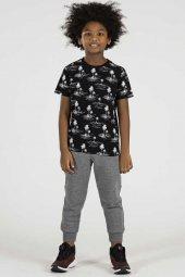 Tommy Life Palmiye Ağaç Baskılı Siyah Çocuk Tshirt