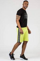 Tommy Life Yan Şeritli Neon Sarı Erkek Şort