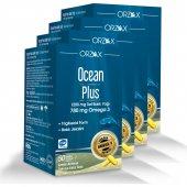 Ocean Plus 1.200 Mg Omega 3 Saf Balık Yağı 30 Kapsül 4lü Paket