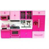 Oyuncak Mutfak Set 4lü Işıklı Sesli Buzdolabı Ocak Fırın Mikro