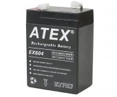 Atex Ax604 6v 4ah Bakımsız Kuru Akü