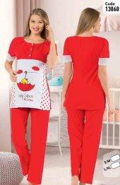 Polkan 13060 Bayan 2li Hamile Lohusa Pijama Takımı