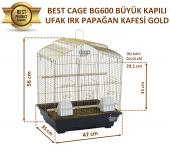Best Cage Büyük Kapılı Ufak Irk Papağan Kafesi Gold 47x35x56 Cm