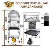 Best Cage P912 Sehpalı Papağan Kafesi 53x53x145 Cm.