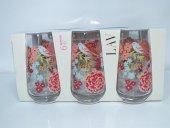 Lav Meşrubat Bardağı Lalin Armoni Kırmızı 6lı