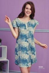 Desen Detaylı Elbise Pijama Bb 1030