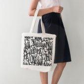 Angemiel Bag Tasarım Siyah Beyaz Yazılar Bez Alışv...
