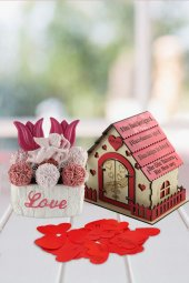 Angemiel Ölümsüz Çiçek Romantik Aşk Evinde Laleler Hediye Sepeti