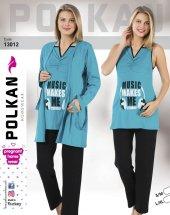 Polkan 13012 Bayan 3lü Hamile Lohusa Pijama Takımı