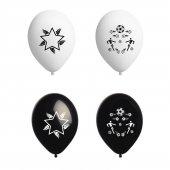 Atom Taraftar Balon Siyah Beyaz 12 İnç 100 Adet