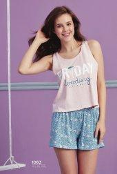 Dondurma Desen Detaylı Şortlu Pijama Takımı Bb 1063