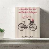 Kişiye Özel Romantik Tasarımlı Mini Kanvas 25