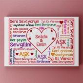 Kişiye Özel İsimli Romantik Kanvas W4