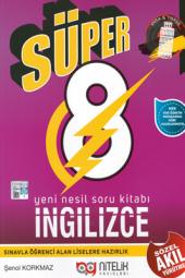 Süper 8. Sınıf İngilizce Yeni Nesil Soru Kitabı Nitelik Yayınları