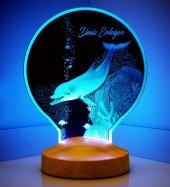 Yunus Balığı Kişiye Özel Led Foto Lamba