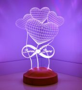 Sevgililer Günü Hediyesi 14şubat Balon Kalpler Sonsuz Kişiye Özel