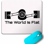 Subaru The World Is Flat Dünya Düz Graphıc Mouse Pad