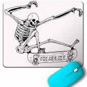 Skateboardıng Skeleton İskelet Skull Kuru Kafa Mouse Pad