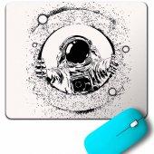 Astronot Uzay Cosmos Ay Dünya Gezegen Galaksi Mouse Pad