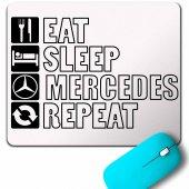 Eat Sleep Mercedes Benz Repeat Amg Sport Drıft Mouse Pad