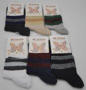 Sahab Simli Çizgili Bayan Patik Çorap 6 Adet