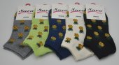 Sara Donna Meyveli Küçük Ananas Desenli Bayan Patik Çorap 5 Adet